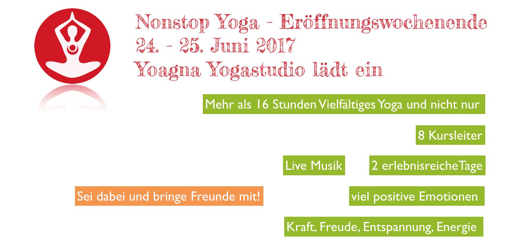 Nonstop Yoga Festival 2017 - das erste Yoga Festival in Duisburg