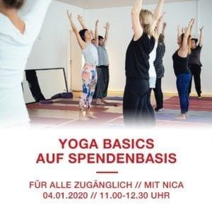 Yoga Basics – freie Yogastunde auf Spendenbasis (mit Nica, Sa. 04.01.20)